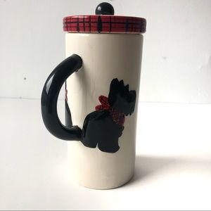 Scottie Dog Ceramic Coffee, Tea Cute Mug With Lid